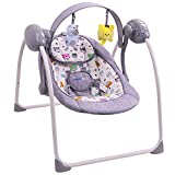 Balancelle bébé électrique musicale/transat : SPARKY (gris)