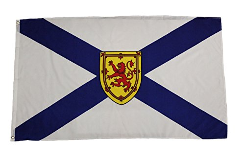 NOVA SCOTIA NS PROVINCIAL 3 X 5 FEET LARGE FLAG BANNER ... (92 CM X 152 CM) CANADIAN PROVINCE .. NEW