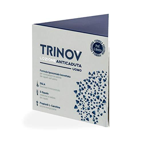 Trinov Lozione Anticaduta Uomo | Trattamento cosmetico per contrastare la caduta dei capelli nell'uomo| Dermatologicamente e clinicamente testato | Flacone da 30 ml