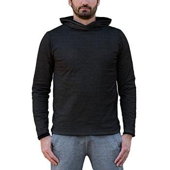 BlocWave EMF Shielding Sweat à capuche pour homme avec tissu de blindage RF - gris - 3X-Large