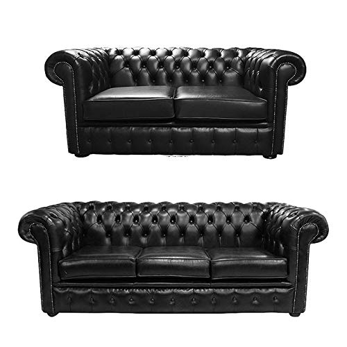 JVmoebel Chesterfield, set completo per divano da 3 + 2 posti