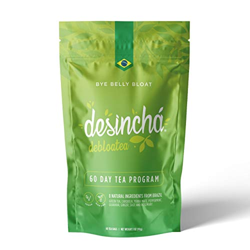 Desincha Tea – 60 Day Supply - 100% Healthy Weight Loss Tea - Reduce Bloating, Increase Metabolism - Made With Natural Ingredients - #1 Tea Brand in Brazil - Pouch 1