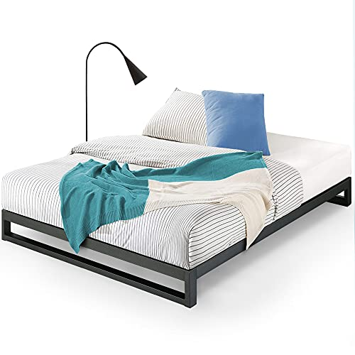 ZINUS Trisha Metal Platforma Bed Frame / Wood Slat Support / No Box Spring Needed / Easy Assembly, Queen