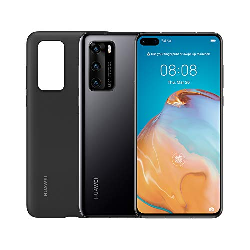 HUAWEI P40 con Cover, Acoustic Display da 6.1', Tripla Fotocamera Leica da 50 + 16 + 8 MP, Kirin 990 5G Octa Core, Nero, Versione Italiana