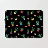 Crazy Corner Plants in Pot Printed 13 Inch Laptop Sleeve/Laptop Case Cover with Shockproof & Waterproof Linen On All Inner Sides (Made of Canvas with Ultra HD Print) - Gift for Men/Women