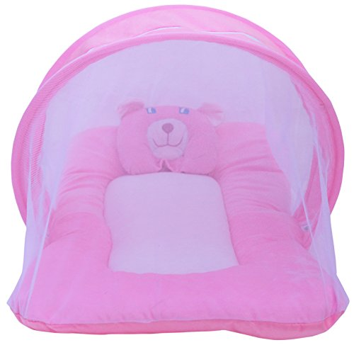 Amardeep Toddler Mosquito and Insect Protection Net/Mattress Pink 70 * 40 cms