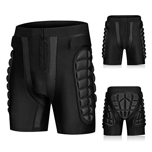Blusea Pantaloncini Sci Protezioni da Snowboard, Protezione Imbottiti Pantaloni Uomo per Lo Sci...
