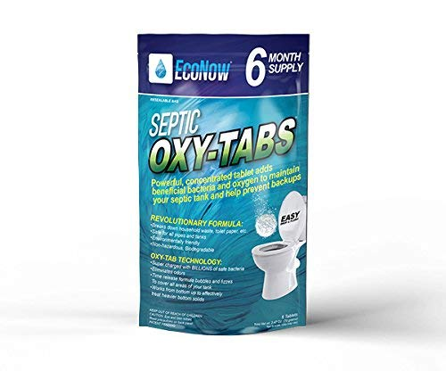 EcoNow OXY-TABS Septic Tank Cleaner/Conditioner Once a Month...