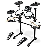 LyxJam 7-Piece Electronic Drum Kit, Professional Drum Set with Real Mesh Fabric, 209 Preloaded Sounds, 50 Play-Along Songs, Recording Capability, Cymbals & Kick Pedal, Drum Sticks And Key Included (Renewed)