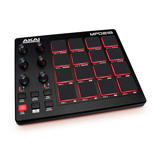 AKAI Professional MPD218 - Controller MIDI USB con 16x3 Pad MPC, 6x3 Manopole + Ableton Live Lite, MPC Beats e Strumenti Virtuali SONiVOX