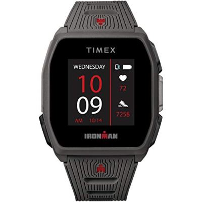 TIMEX IRONMAN R300 GPS Smartwatch with Heart Rate 41mm – Dark Gray with Silicone Strap. Top 21 Smartwatch Brands