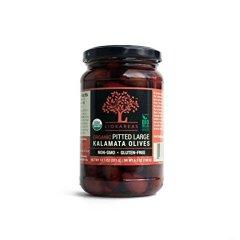 Organic Kalamata Olives - NON-GMO - Gluten Free - Pitted - USDA Organic (13.1 oz)