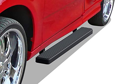 APS iBoard Running Boards 5-inch Matte Black Compatible with Ford F150 F250LD 1997-2003 Regular Cab (Include 04 Heritage)(Not for Lightning Model) (Nerf Bars Side Steps Side Bars)