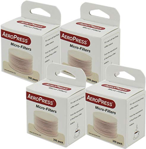 AeroPress Replacement Filters, 4 Pack - Microfilters For The AeroPress Coffee And Espresso Maker - 1400 count