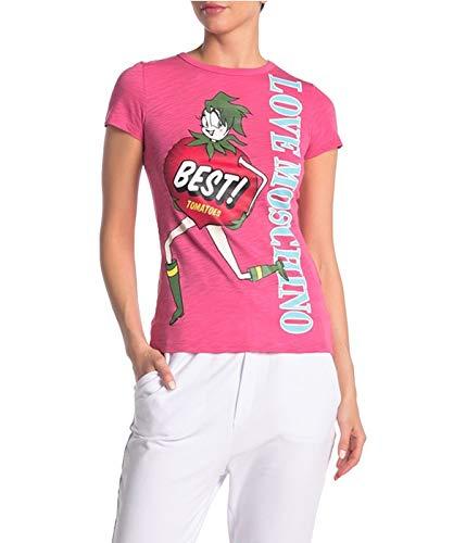 Love Moschino Camiseta de mujer rosa Best Tomatoes Rosa 38