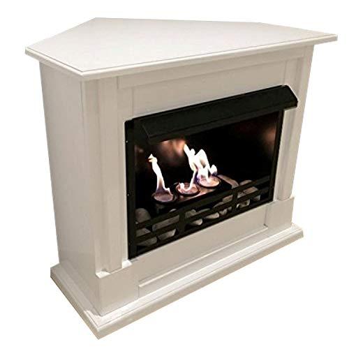 Corner Fireplace Apollo & Gel Fireplace with 27Piece Set (Em)