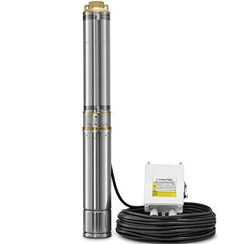 TROTEC Tiefbrunnenpumpe TDP 5500 E 1.100 Watt Leistung Förderhöhe 58m 6.000 Liter Nutzwasser pro Stunde