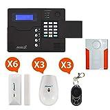 Atlantic'S - Alarme Maison sans Fil GSM Application Smartphone St-V Kit 5