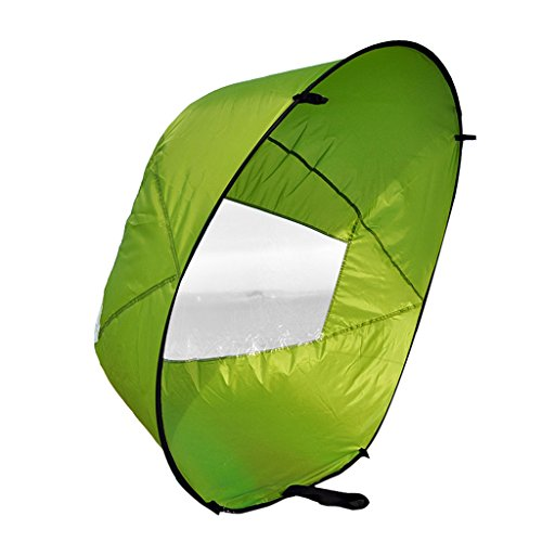 Einfach Tragbar, 42\'\' Downwind Wind Paddle Instant-Popup Kayak Sail, Kayak Wind Sail, Kayak Accessorie - Grün