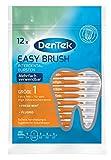 DenTek 12 Stk. Dentek Easy Brush Interdental-Bürsten, Größe 1, extra fein - für sehr enge Zahnzwischenräume, mit Minzgeschmack & hygienischer Schutzkappe