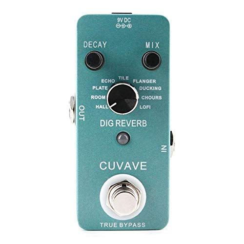 DIG Reverb Guitar Effect Pedal with 9 Reverb Types True Bypass Effects Stompbox for Electric Guitar
