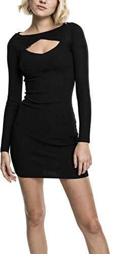 Urban Classics Damen Ladies Cut Out Dress Kleid, Schwarz (Black 7), Small