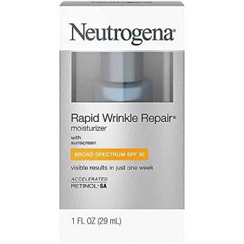 Neutrogena Rapid Wrinkle Repair Moisturizer, SPF 30, 1 oz (Pack of 2)