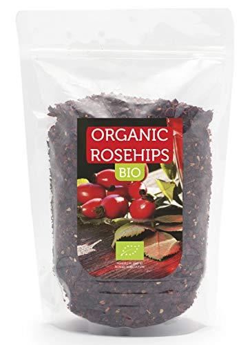 Bio Hagebuttenschalen 1kg, Ideal für Tee, ohne Samen, eine natürliche Quelle für Vitamin C