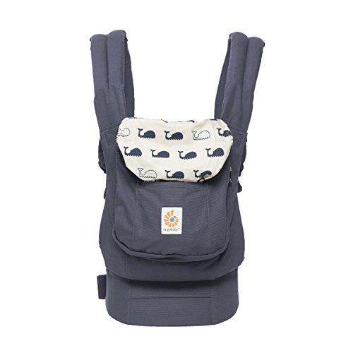 Ergobaby Marsupio Neonati Ergonomico, Porta Bebe Bambino 3 Anni, 3-Posizioni Originale Marine, 3,2-5,5 kg/5,5-20 kg