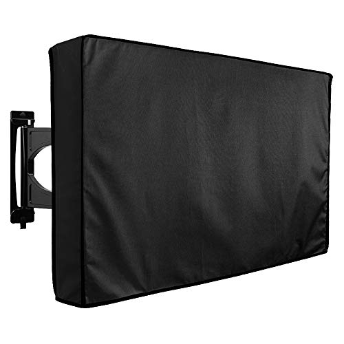 """Outdoor TV Cover 30"""" - 32"""" - WITH BOTTOM COVER - The BEST Quality Weatherproof and Dust-proof Material with FREE Microfiber Cloth. Protect Your TV Now!"""