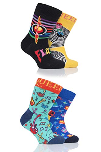 Happy Socks Bbs Queen 'We Will Sock You' - Confezione regalo di calzini (Confezione da 4) assortiti...
