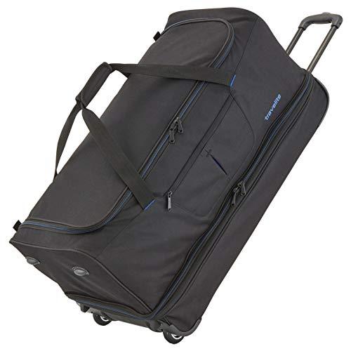 Travelite Sac de voyage à roulettes 'Basics' 70cm noir/bleu Borsone, 70 cm, 98 liters, Multicolore...