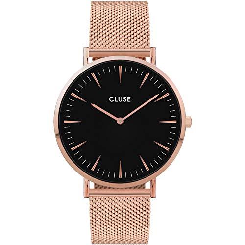Cluse Damen Analog Quarz Uhr mit Edelstahl Armband CW0101201003