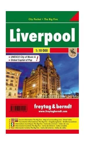 Liverpool, plano callejero de bolsillo plastificado. City Pocket. Escala 1:10.000. Freytag & Berndt.