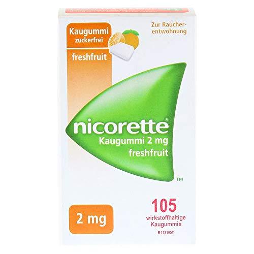 nicorette 2 mg freshfruit, 105 St. Kaugummi