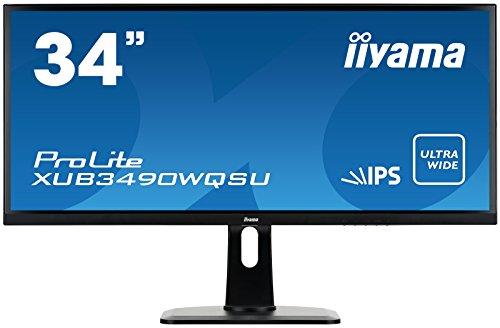 iiyama ディスプレイ モニター XUB3490WQSU-B1 34インチ/Ultra-Wide QHD(3440x1440)/AH-IPS/スリムベゼル/HDMI端子付