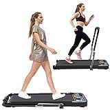HOTSYSTEM 2 in 1 Folding Treadmill, Under Desk Treadmill, Indoor Walking Running Exercise Pad...