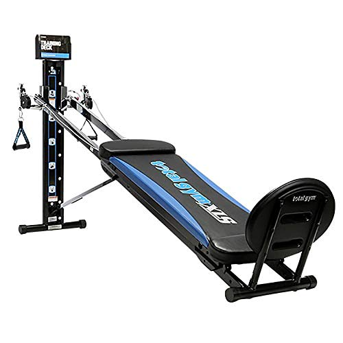 Total Gym XLS Men/Women Universal Total Body Training Foldable Home Gym Workout Machine with Squat Stand, Leg Pull,...