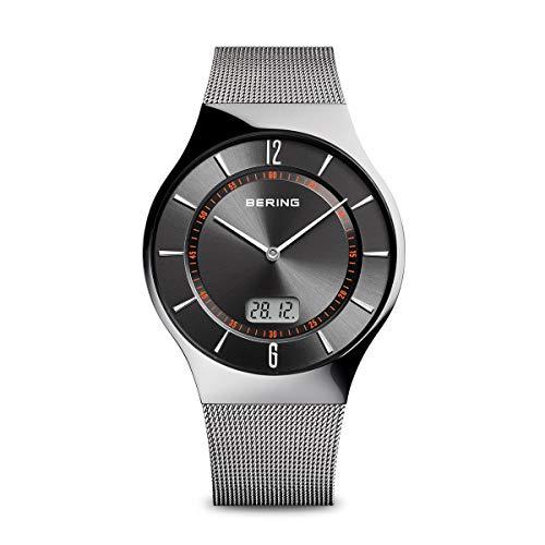 BERING Herren Analog Funk Collection Armbanduhr mit Edelstahl Armband und Saphirglas 51640-077