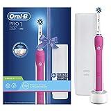 Oral-B Pro 750 CrossAction Cepillo eléctrico recargable, 1 mango rosa, 1 cabezal recambio, funda de...