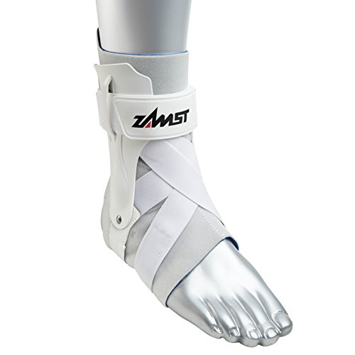 Zamst A2-DX Strong Support Ankle Brace, White, Small - Left