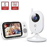 Victure Babyphone Caméra Moniteur bébé 3.2' LCD Couleur Vidéo Bébé...
