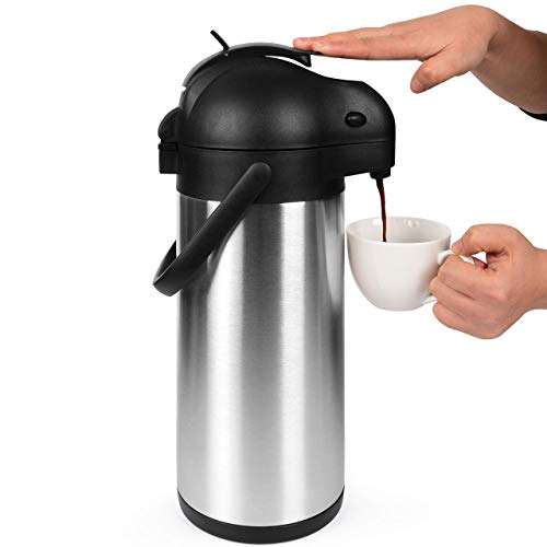 101 Oz (3L) Airpot Thermal Coffee Carafe/Lever Action/Stainless Steel Insulated Thermos