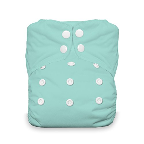 Thirsties One Size All In One Cloth Diaper, Snap Closure, Aqua