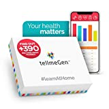 DNA Test Kit tellmeGen - 390+ Reports - Health Predisposition - Ethnicity (Ancestry Composition) - Genetic Carrier Status - Personal & Wellness Traits That Make You Unique