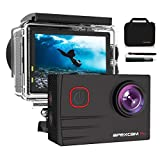 Apexcam 4K Caméra Sport WiFi Ultra HD 20MP Caméra Etanche 2' LCD 40M...
