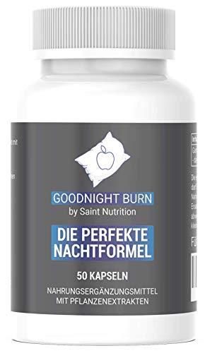 Saint Nutrition® GOODNIGHT F-BURN Kapseln, 1 Kapsel für die Nacht mit Garcinia Cambogia - für Männer & Frauen, schnell + Vegan - Hochdosiert & Hergestellt in Deutschland
