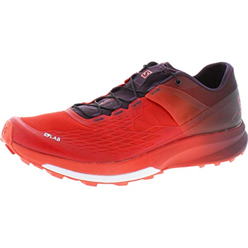 SALOMON Unisex Adults S/lab Ultra Competition Running Shoes, Multicolor (Racing Red/Maverick/White), 11.5 UK