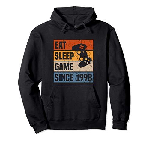 22 Years Eat Sleep Game Since 1998 Gaming 22nd Birthday Pullover Hoodie