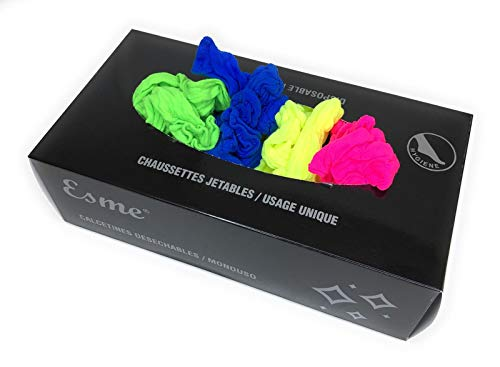 Calze usa e getta, 20 denari, adatte per uomo e donna - Taglia unica - 100 pezzi/confezione (multi colors, 1)
